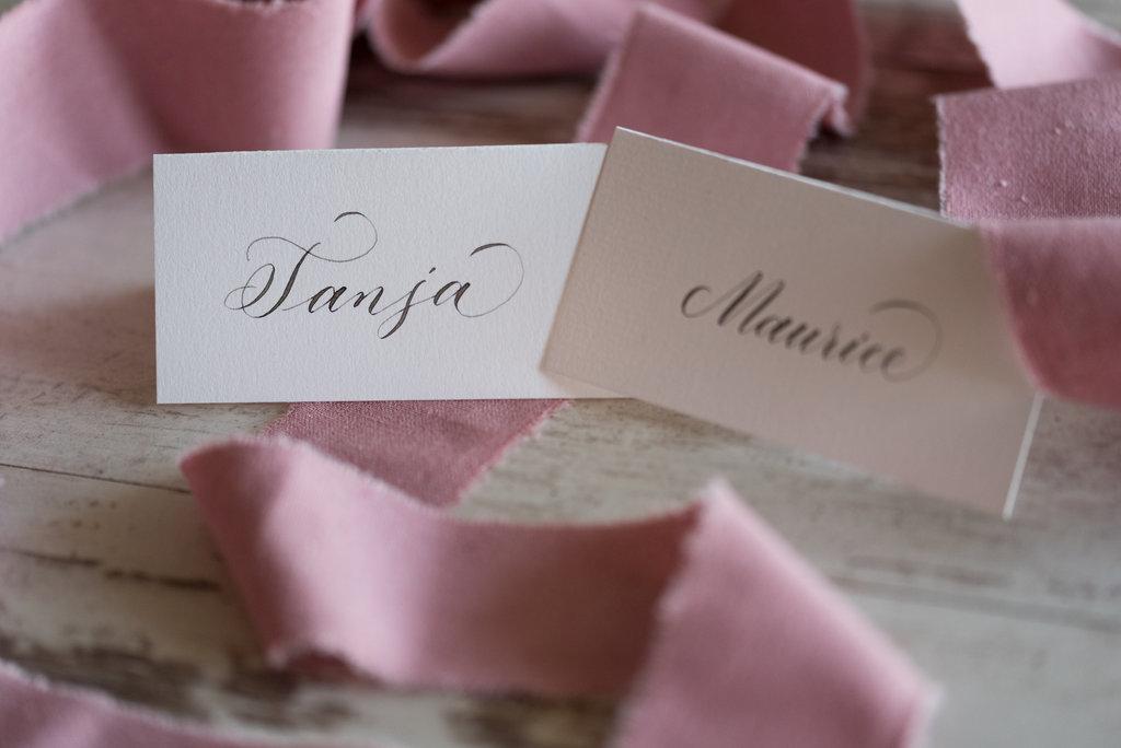 hochzeit kalligraphie rosa