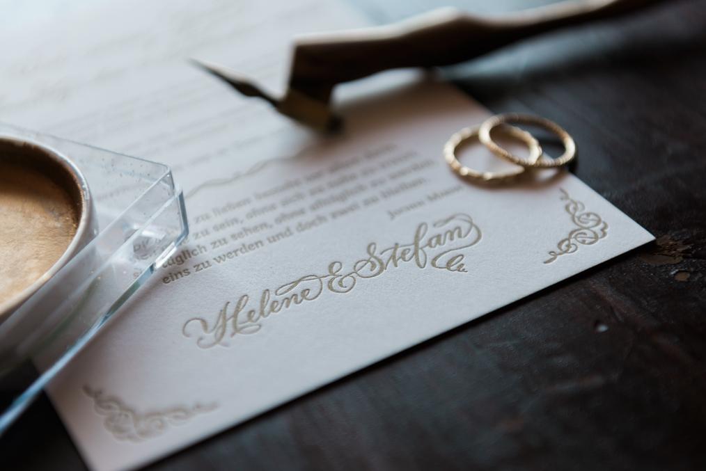 hochzeit kalligraphie letterpress