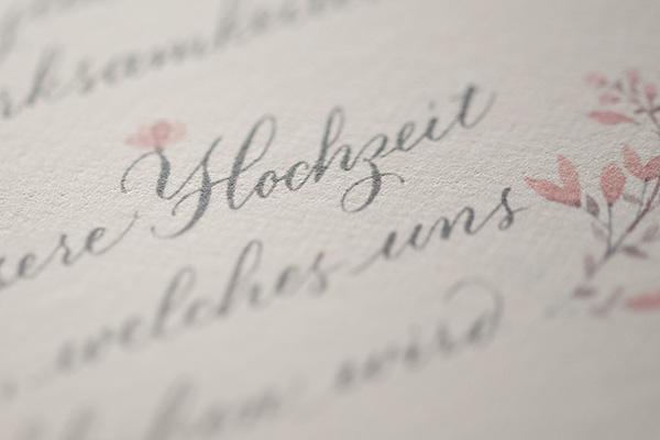 hochzeit kalligraphie tintenfuchs