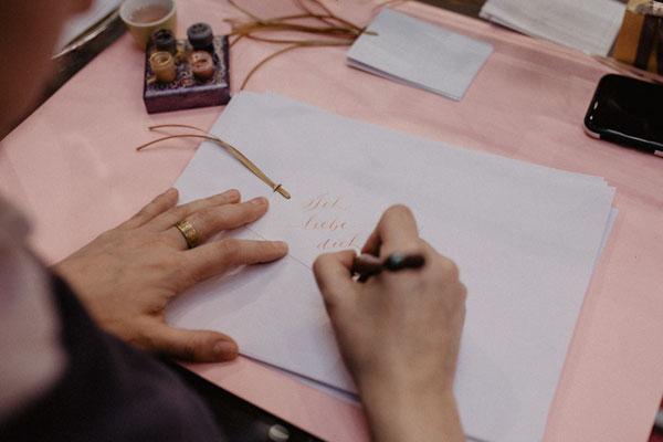 live-kalligraphie tintenfuchs