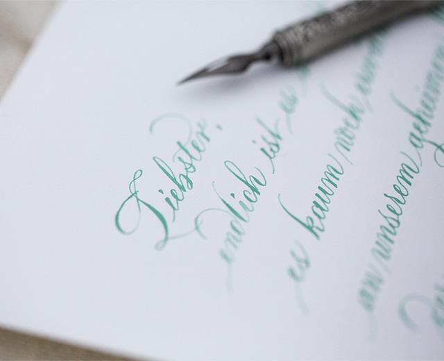 Kalligraphie-Liebesbrief Tintenfuchs