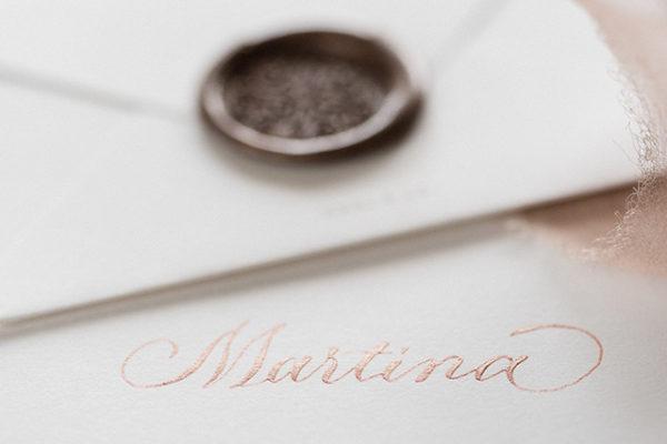 hochzeit kalligraphie rose