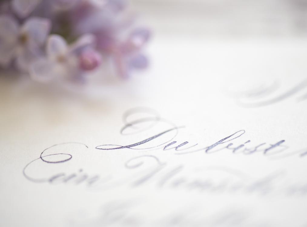 tintenfuchs hochzeit kalligraphie frühling