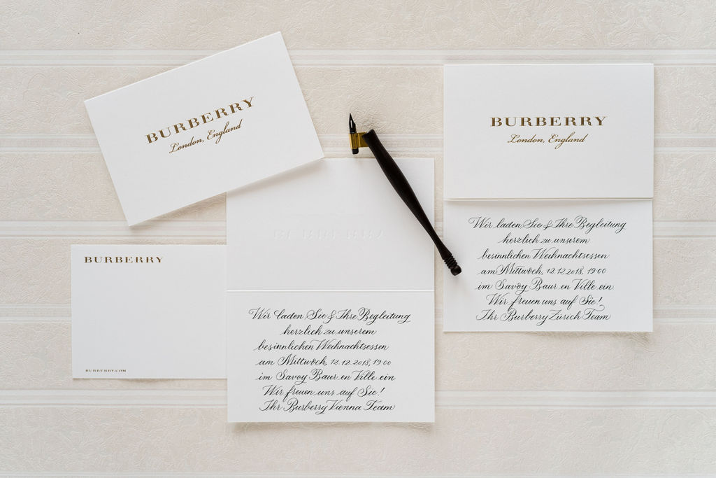 burberry calligraphy