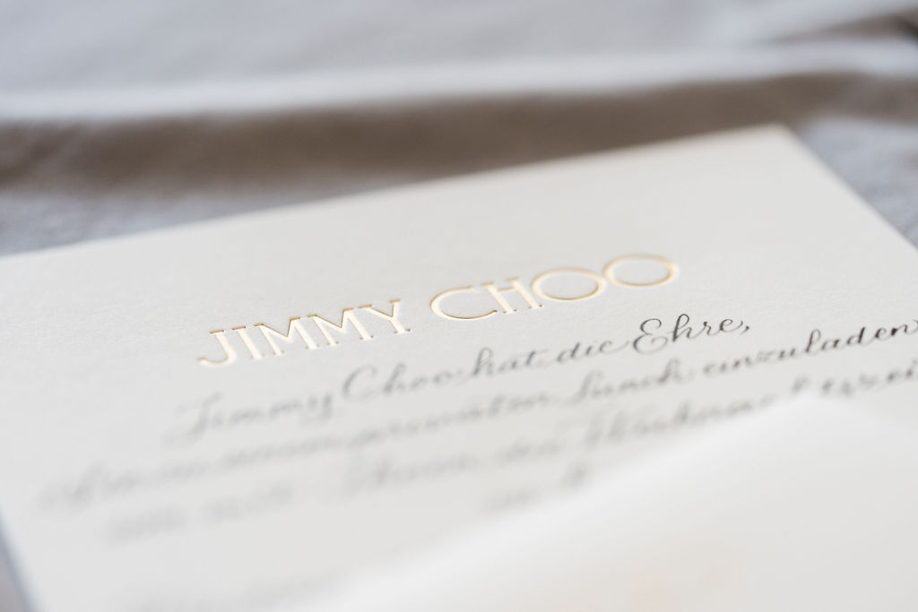 jimmy choo calligraphy
