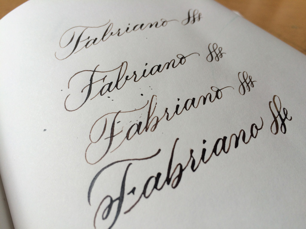 papiertest fabriano notizheft