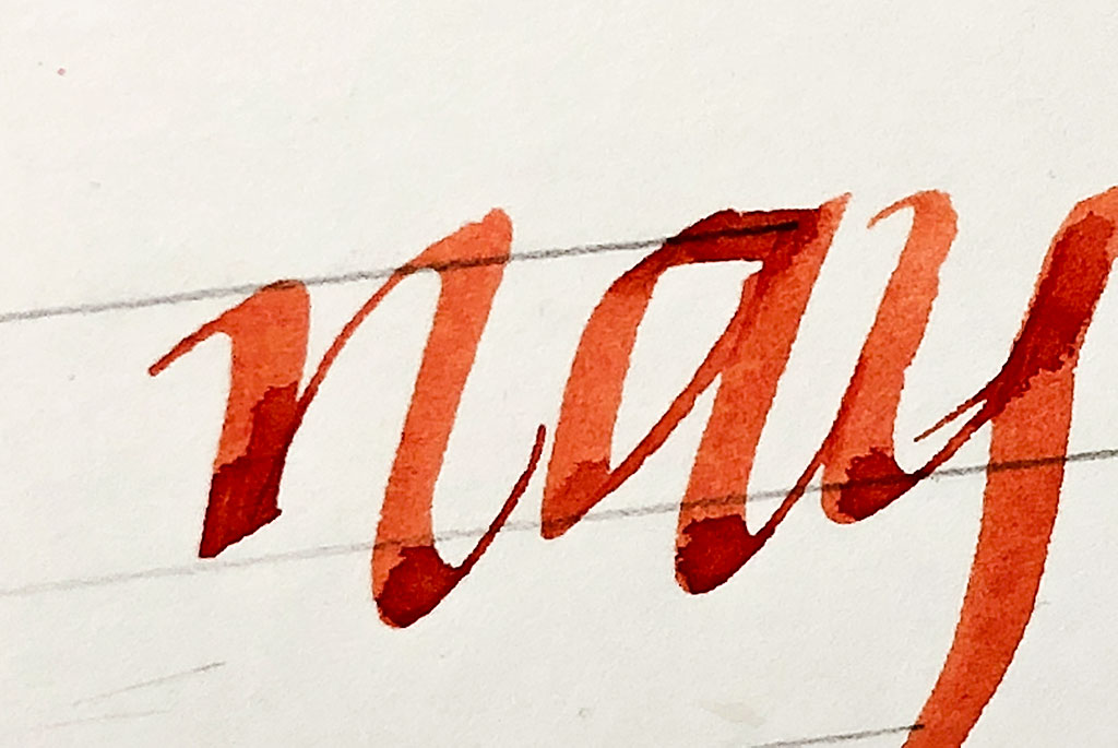 tintenfuchs papiertest federzeichenpapier hahnemuehle