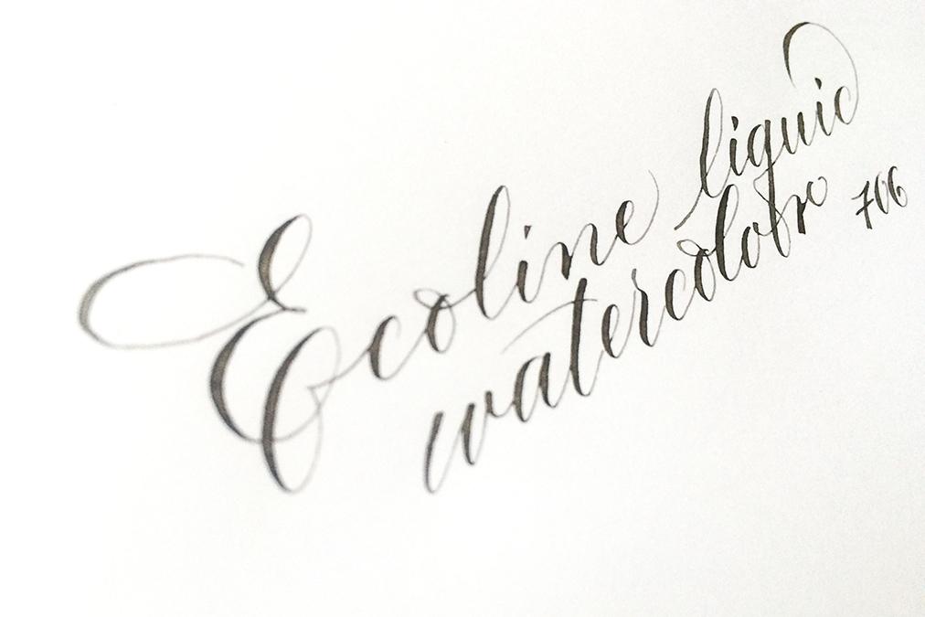 test ecoline kalligraphie