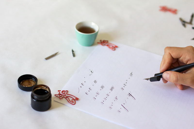 Tintenfuchs Kalligraphie Workshop