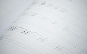 moderne kalligrafie übungsheft