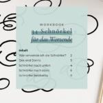schnörkel wortende workbook